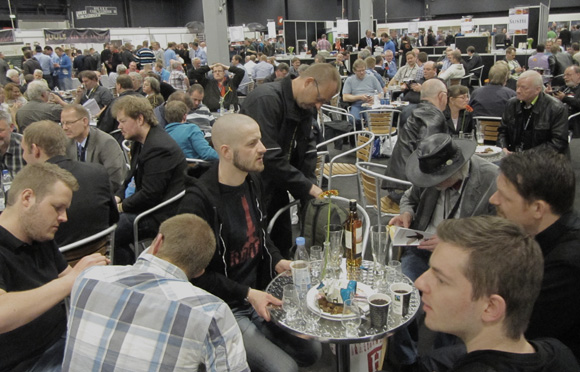 Palate neutralizing coffee break at Whiskymessen 2012