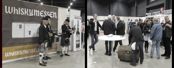 Festival backpipers & the occasional cask rollin' at Whiskymessen 2012.