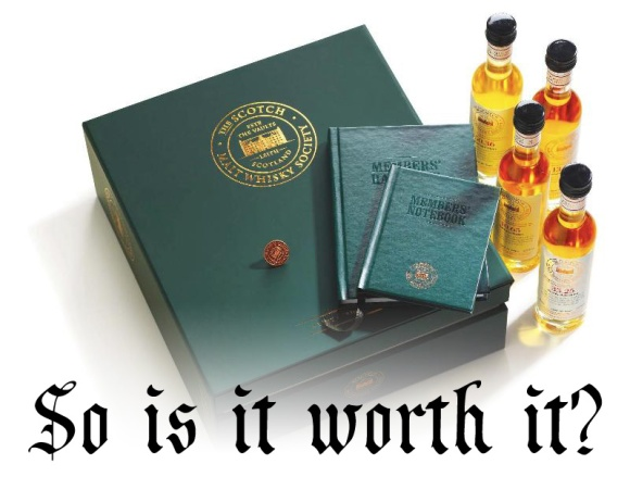 SMWS Membership box worth it. Scotch Malt Whisky Society.